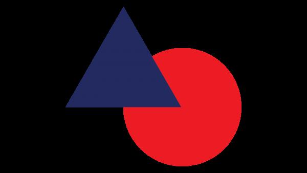 Onit | Icône - Triangle bleu et cercle rouge - Relève d'entreprise